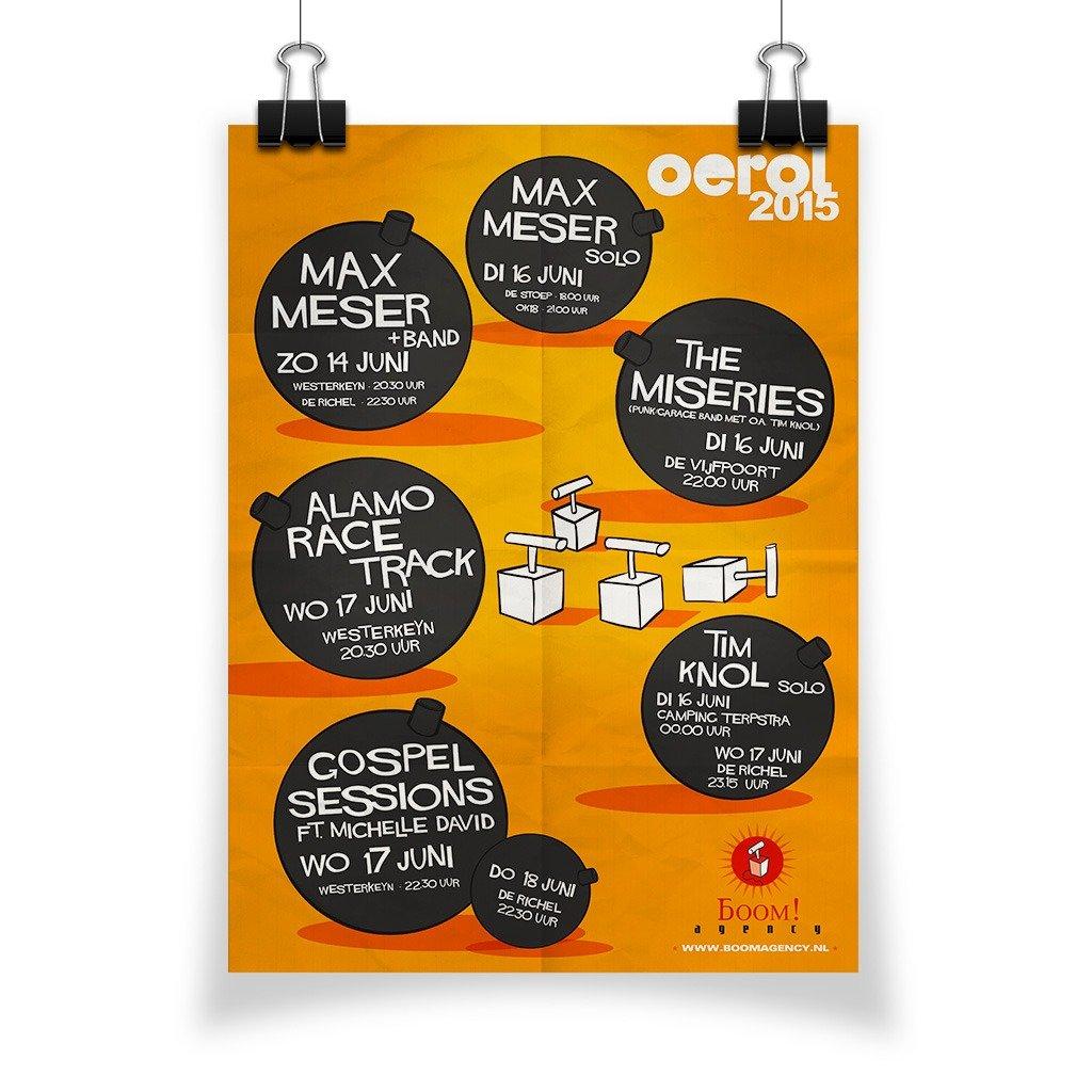 poster Boom Agency Oerol 2015