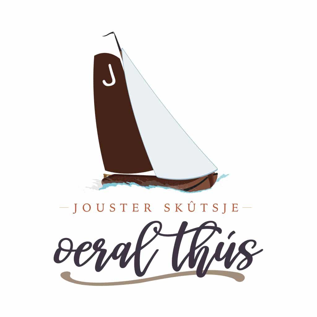 logo voor het Jouster Skûtsje 'Oeral Thús'